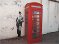 Image for Edward Elgar Graffiti Next to Telephone box in Malvern, Worcestershire