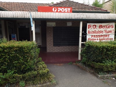 A closer view of the Post Office