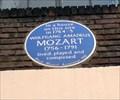 Image for Wolfgang Amadeus Mozart.  Frith St, London, UK