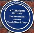 Image for A C Benson - Eton College, Eton, Berkshire, UK