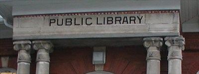 "Typical recognizable section of ""Carnegie Libraries"""