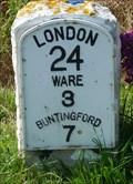 Image for Milestone - Ermine Street / High Road, High Cross, Hertfordshire, UK.