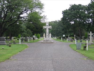 This central grave is for Fr. Joseph Sinkmajer, a beloved pastor of St. Mary's Parish (1905-1917).
