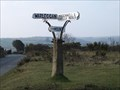 Image for Benchmark on Fingerpost the edge of Bodmin Moor.