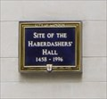 Image for Site of Haberdasher's Hall -- Gresham Street, City of Londion, UK