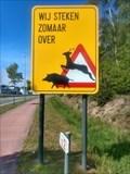 Image for Wild boar and deer crossing, Genk, Belgium