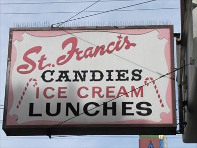 St Francis Fountain Sign, San Francisco, California