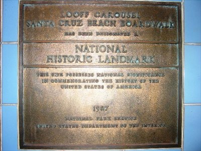 The Boardwalk's National Historic Plaque
