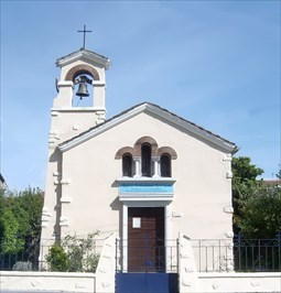 Front side of the Greek Orthodox Church of Bordeaux