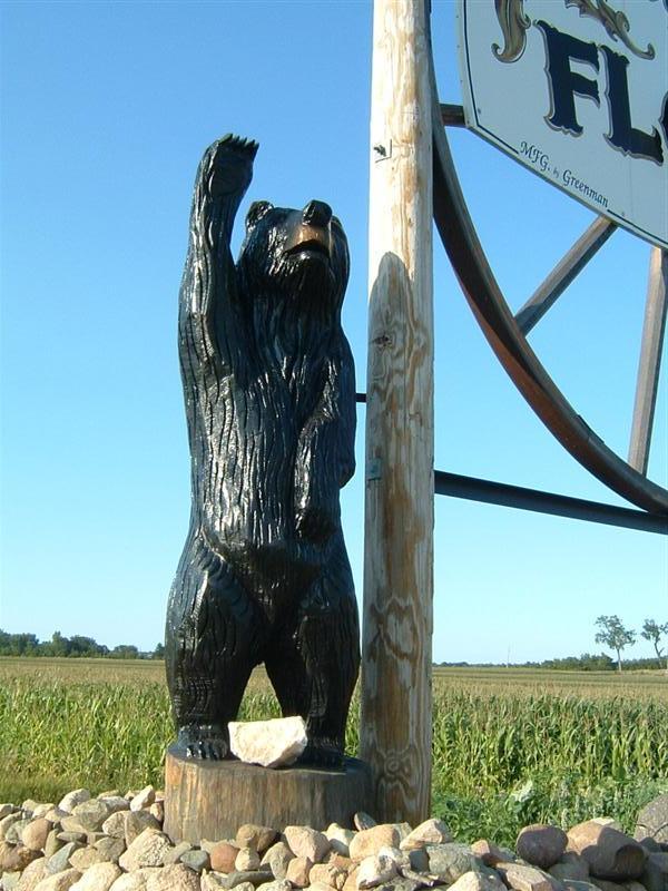 Floyd bears iowa outside wooden display