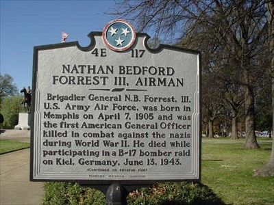 Located near the Grave of Confederate General Nathan Bedford Forrest
