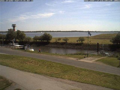 Blick auf die Elbe bei Stadersand
