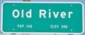 Image for Old River ~ Population 140