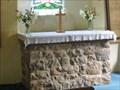 Image for Stone Altar - Parish Church of St Mary and St Lawrence  - Cauldon, Stoke-on-Trent, Staffordshire, UK.