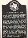 Image for Bastrop Advertiser, Texas' Oldest Weekly Newspaper, 78602