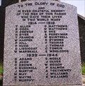 Image for Lanivet War Memorial, Cornwall UK