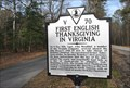 Image for First English Thanksgiving In Virginia