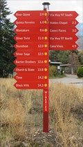 Image for Wineries Directional Sign - Oliver, British Columbia