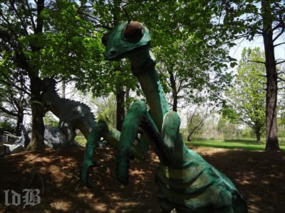 Looks like even dinosaurs had insects hovering around. They do at Dinosaur Land anyway!