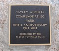 Image for Cayley Alberta 100th Anniversary