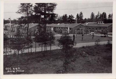 1933 : Camp Raco, Michigan's First Civilian Conservation Corps Facility