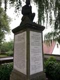 Image for Kriegerdenkmal im Kirchenumgriff der evangelischen Pfarrkirche zu Weidenberg - 95466 Weidenberg/ Bayern/ Deutschland