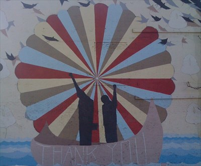 Tommy smith john carlos thank you san jose ca murals for Thank you mural