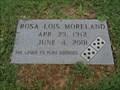 Image for Rosa Lois Moreland - Eakins Cemetery - Ponder, TX