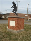 Image for Big Blue Football Player Statue - Gate City, VA