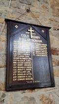 Image for Roll of Honour - St Denys - Cold Ashby, Northamptonshire