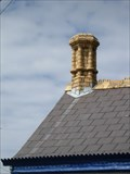 Image for Yellow Moulded chimney, Tabernacle, Long Street, Newport, Pembrokeshire, Wales, UK