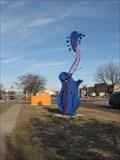 Image for Blues Mandolin Sculpture, Waterloo, IA