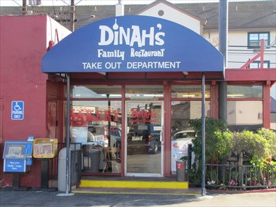 Dinah's Family Restaurant Sign, Los Angeles, California
