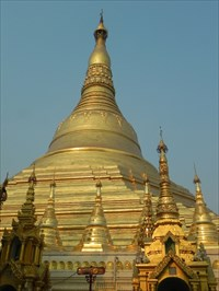The Stupa in Shwedagon Paya in Yangon, Myanmar