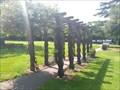 Image for Wooden Pergola at Wynn Garden's Sensory Garden - Wynn Gardens, Old Colwyn, Wales, UK