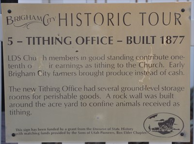 Tithing Office - Built 1877 - Utah Historical Markers on Waymarking com