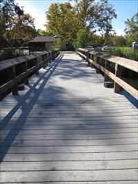 From the pier, looking back to shore, Vasona Lake Park, Los Gatos, CA