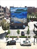 """Image for """"Three Waves for Coastway"""" mural by Amy Bartlett Wright - Providence, Rhode Island"""