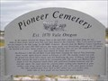 Image for Pioneer Cemetery - Vale, Oregon, USA