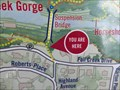 Image for You Are Here - Fall Creek Suspension Bridge (North Side) - Ithaca, NY
