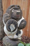 Image for Tree stump Bear - Los Olivos California