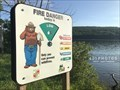 Image for Smokey Bear sign at Deep Creek Lake - McHenry, Maryland