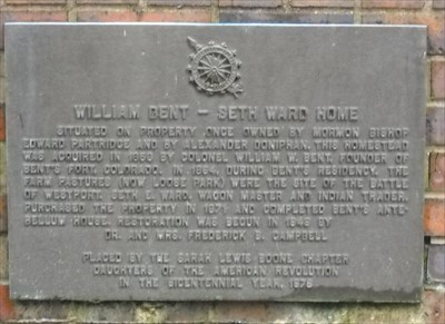 William Bent - Seth Ward Home - Kansas City, Missouri
