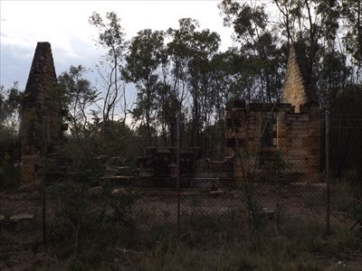 Side view of the ruins of the Bygone Toll House. 1646, Friday, 29 December, 2017