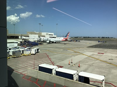 view from inside the terminal