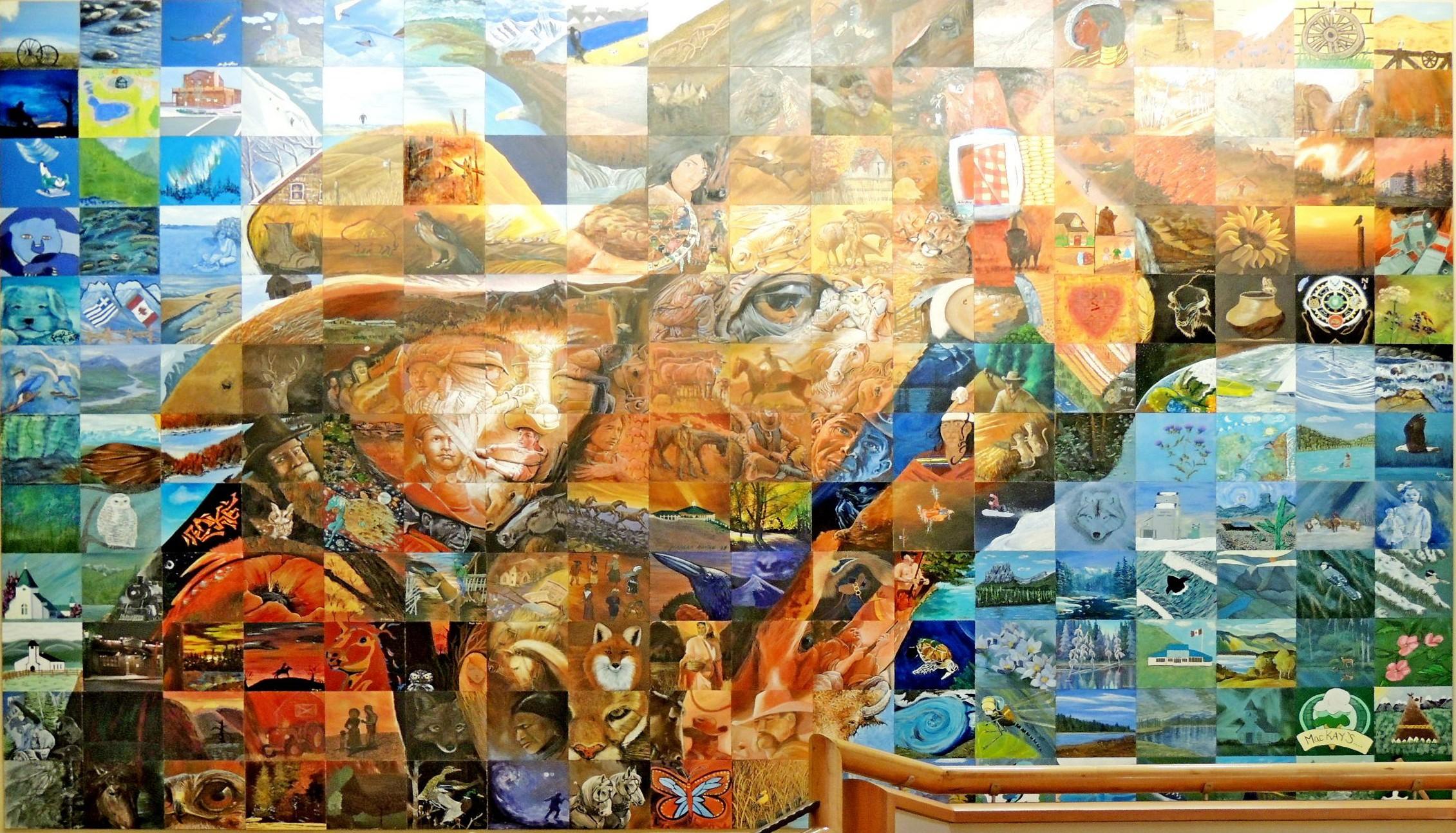 Trust cochrane ab mosaics on for Cochrane mural mosaic
