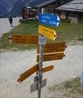 Image for Direction and Distance Sign Kreuzboden - Saas-Grund, VS, Switzerland