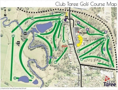 The Golf Course layout. (From their website.)