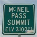 Image for 3100 feet - McNeil Pass Summit
