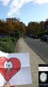 Da mein GPS und der Fotoaparat dasselbe Gerät waren, habe ich einen Screenshot vom GPS gemacht und in das Bild vom Ort eingefügt.